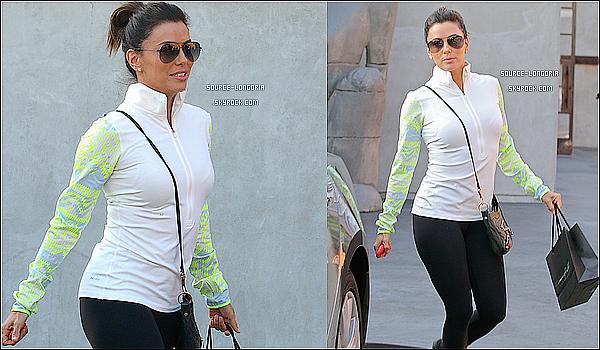 - 03/02/15: Eva et son amie Melanie Griffith sont allées faire de la Gym puis du shopping pour décompresser à L.A . -