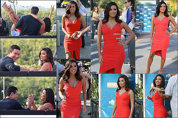 - 04/02/15: Plus belle que jamais, Eva était invitée à l'émission «Extra» de son ami Mario Lopez à Los Angeles♥.  -