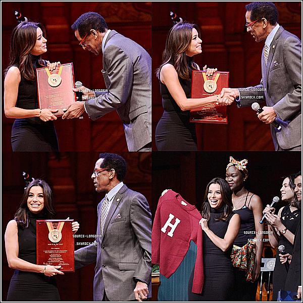 - 21/02/15: Eva a eu l'honneur de recevoir la récompense de « l'Artiste de l'année » de la Fondation Harvard .♥♥Tellement heureuse pour elle , une femme exceptionnelle, Eva a vraiment tout pour elle ♥ elle mérite tout ce qu'il lui arrive.  -