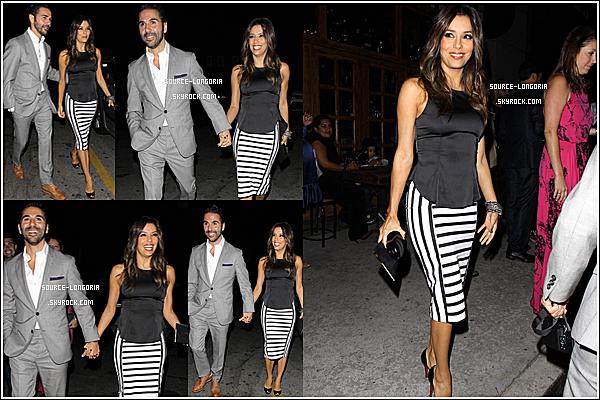 - 13/06/14: Eva Longoria son chéri José et des amis sont allés dîner au restaurant «Aventine»  à Hollywood. ♥ -