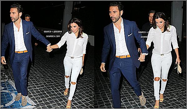 - 05 / 03 / 15: Eva et son homme José se sont rendus à soirée d'anniversaire d'une amie à Los Angeles. -