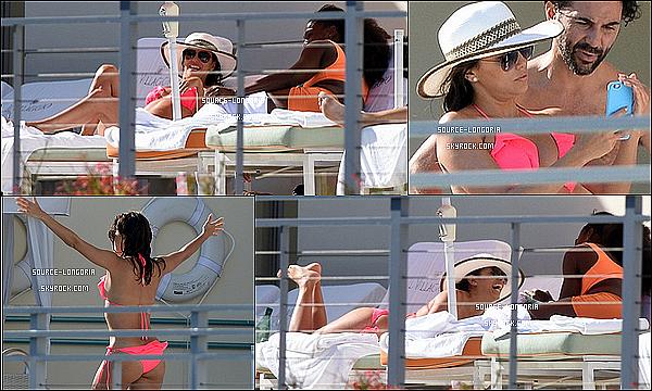 - 05/04/15 : Eva accompagnée de son âme soeur et ses amis prenant du bon temps dans leur hôtel à Miami.Serena williams est présente avec eux, Eva se porte à merveille elle à un magnifique corps elle est parfaite dans son bikini rose   -