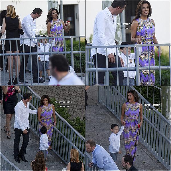 - 01/05/15: La belle Eva Longoria était présente au baptême du fils d'une de ses meilleures amies en Espagne. -