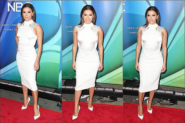 - 11/05/15:  Eva s'est rendue à l'évènement « 2015 NBC Upfront Presentation » à Radio City Music Hall à New York.  -
