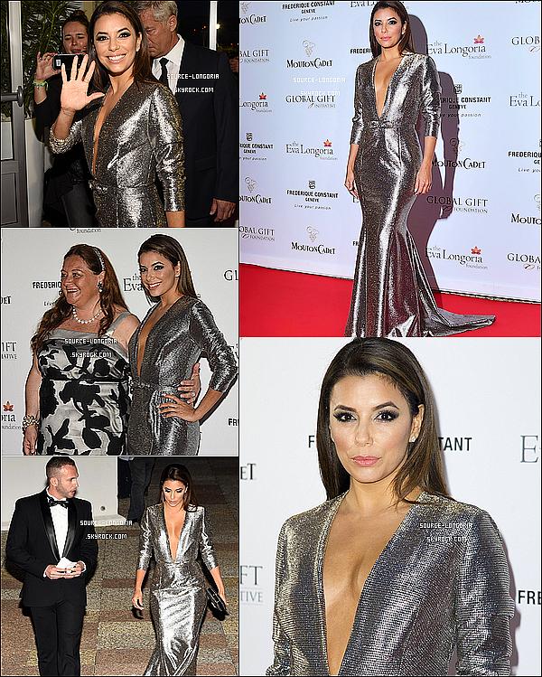 - 14/05/15 : Eva Longoria était présente à sa soirée caritative du « Global Gift Gala » à Cannes (France) . -