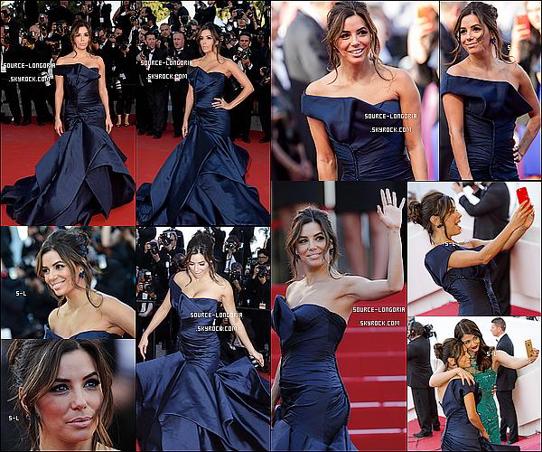 """- 17/05/15: Eva Longoria a montée les marches du Palais des Festivals  lors de la première du film """"Carol"""" à Cannes.C'était ce jour la que j'ai vu Eva, Elle est encore plus belle en vrai, deuxième fois que je la voit à Cannes une Femme en Or  ♥ ♥♥   -"""