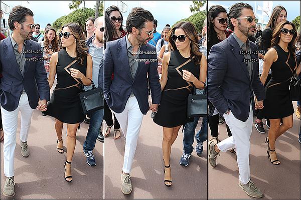 - 21/05/15: Eva et son chéri l'homme d'affaire ont étaient repérer sur la croisette pour aller déjeuner à Cannes.-