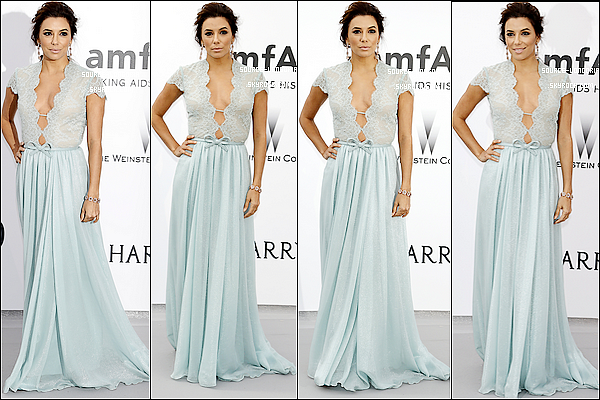"- 21/05/15: Miss Eva s'est rendue à l'évènement ""amfAR's 22nd Cinema Against AIDS Gala""   au Cap d'Antibes.-"