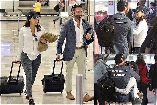 - 26/05/15: Après son long séjour en France, Eva et José ont étaient vus à l'aéroport  Paris-Charles-de-Gaulle .-