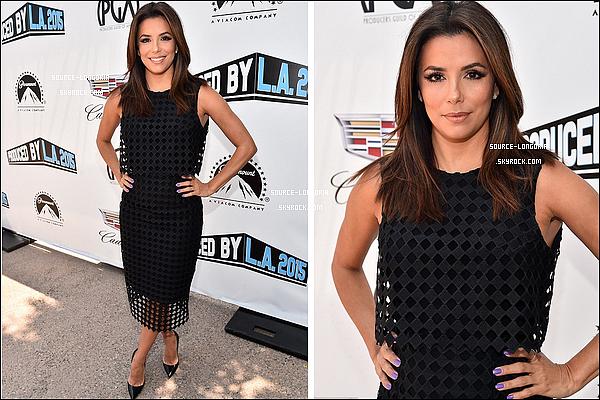 - 31/05/15: De retour à Los Angeles, Eva était à la conférence de presse des producteurs aux studios Paramount.-