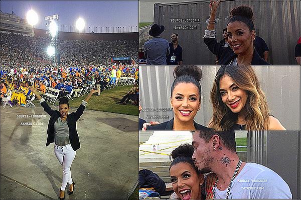 - 26/07/2015:  Eva était présente à la  Cérémonie « Special Olympics » au Los Angeles Memorial Coliseum, Canon ♥. -