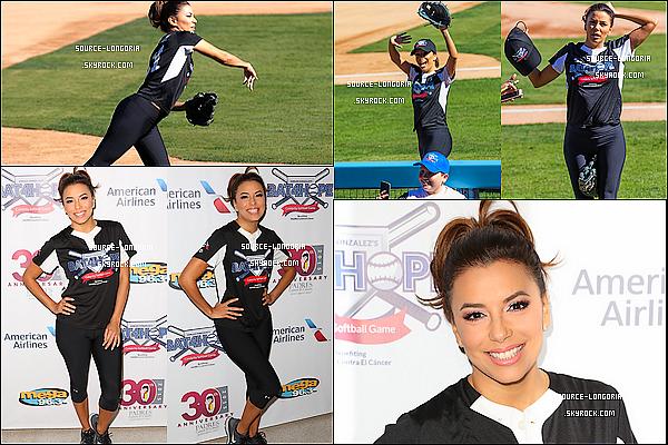 - 07/11/2015: En tenue de sport Eva a participer au baseball pour une occasion caritative à Los Angeles. -