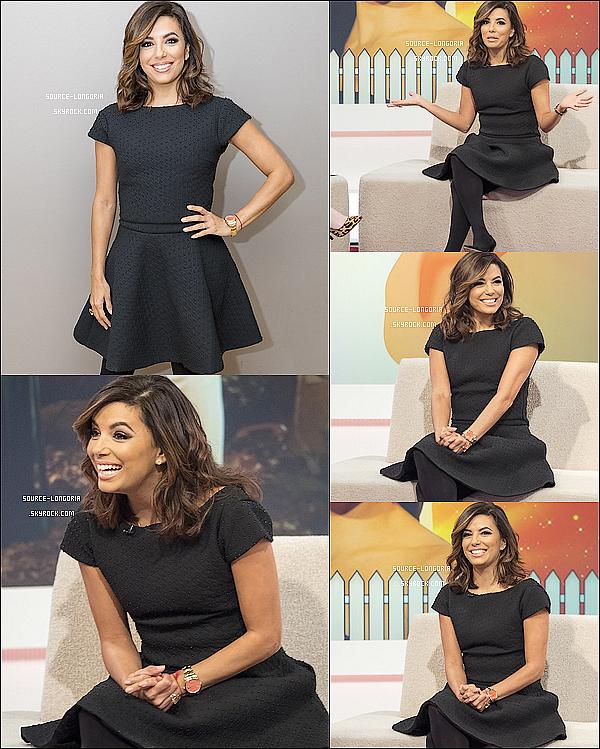 - 30/11/2015: Eva était invitée dans une émission de télé pour parler de sa nouvelle série à Londres  -