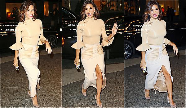 - 10/12/2015: La belle Eva Longoria se rendant à l'événement « L'Oréal Beauty Shaker» à New York. -