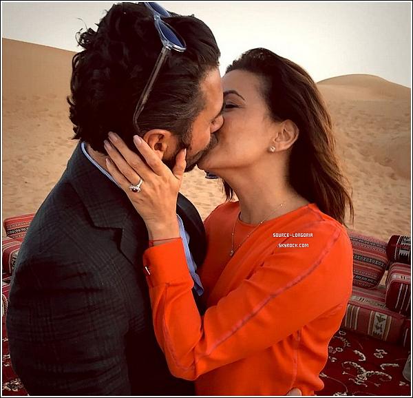 """- MARIAGE MARIAGE  ♥  - et oui depuis  octobre 2013, Eva est la compagne de l'homme d'affaires, Jose Antonio Baston. Le 13 décembre 2015, le couple se fiance à Dubaï, Le couple devrait ce marier l'été prochain. Eva Longoria a fait appel à son amie Victoria Beckham pour réaliser sa robe de mariée. Elle parle même du moment ou José aurait demander Eva en Fiançailles """" Je profite encore de mes fiançailles. Je suis encore éblouie par la beauté du moment qu'il a su créer… Quelle surprise ça a été! Il est fantastique, il est très beau. C'est l'être humain le plus gentil que j'ai jamais rencontré""""  Ils sont tellement mignon ensemble ♥   -"""
