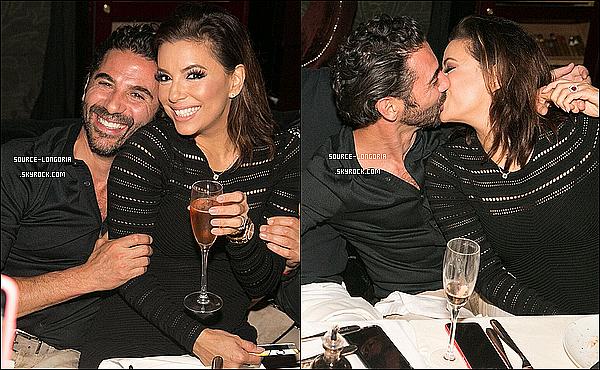 - 14/12/15: Eva et son fiancée  José Antonio Baston sont allés fêter leurs fiançailles dans un restaurant à Dubaï. -