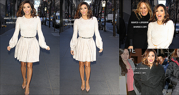 - 04/01/2016: Miss Eva Longoria se rendant à une émission de télé pour une  interview à New York. -