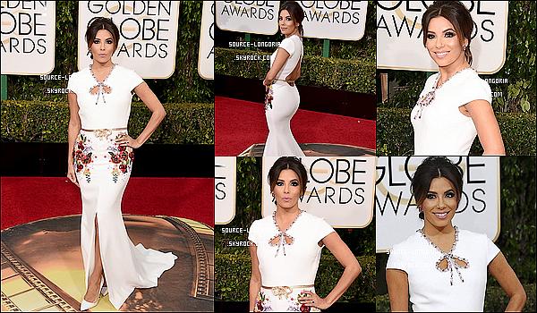 - 10/01/2016:  Eva était présente aux « Golden Globes Awards  » qui se déroulaient au Beverly Hilton Hotel. -
