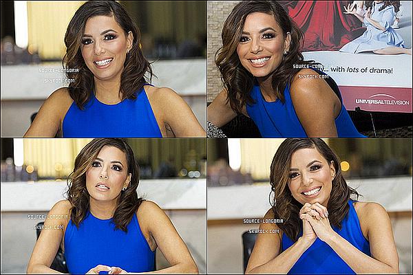 - 01/02/2016: Notre actrice préférée était au photocall pour sa série «Telenovela » au restaurant Beso à L.A.Eva est parfaite lors de cet événement toute les couleurs lui vont bien , surtout le bleu j'adore sa robe elle est parfaite big top !    -
