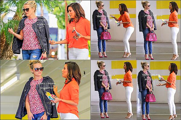 - 10/02/2016: En pleine discussion Reese Witherspoon et Eva ont étaient vus sortant d'un immeuble à L.A. -