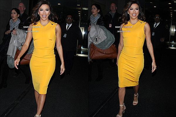 -  16/02/2016: L'actrice Eva sortant du plateau de l'émission « The Last Show»  beaucoup connue à New York . Wahou Eva est juste parfaite j'adore sa robe jaune elle lui va super bien avec son teint, un énorme top j'adore son sourire et toi   -