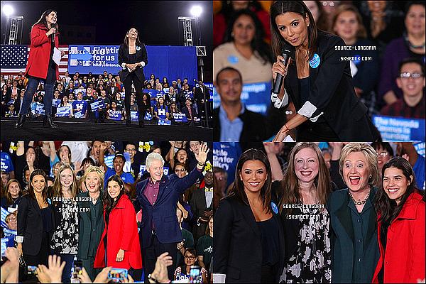 - 19/02/2016: Eva Longoria était présente à la campagne de soutien Hillary Clinton à Las Vegas.  -