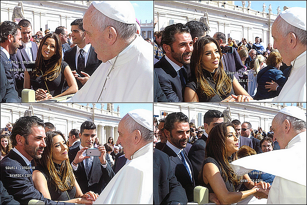 - 30/03/2016: Eva Longoria et son amoureux José sont allés rencontrés Le Pape François en Italie .  -