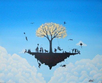 mes peinture entre terre et ciel
