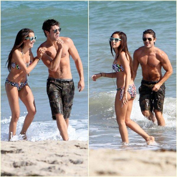 Zac a était photographié en compagnie de sa meilleure amie Ashley Tisdale a la plage pour célébré son 26 éme anniversaire