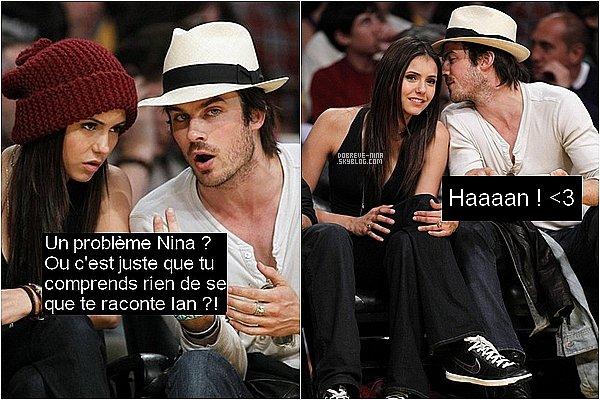 . 27mai 2010 ♣ Nina & Ian, étaient présent au match des Lakers. Oui.. j'ai commentais les photos.. x) .