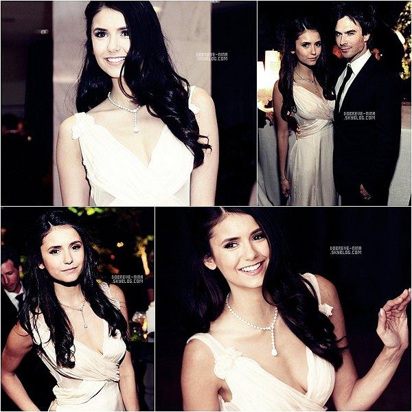 . 30Avril11 ♣ Nina& Ian à la Maison Blanche pour un dinner. On croirait presque à un mariage, non ? .