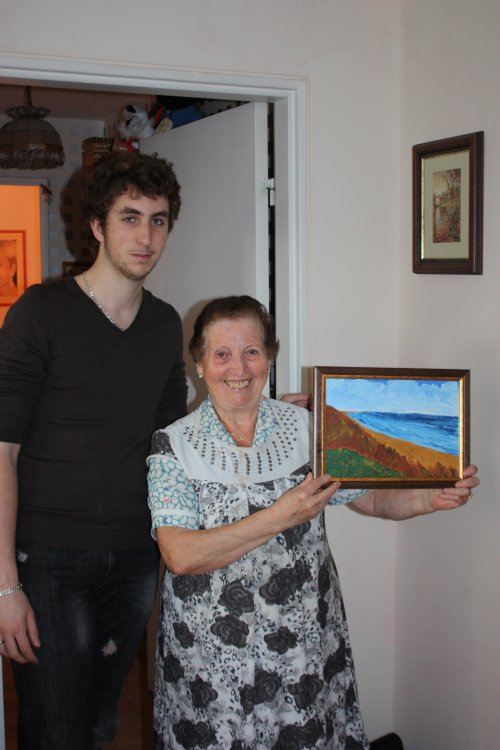 2 Mai 2011 - NOUVEAU TABLEAU D'IVAN POUR SA MAMY