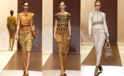 Moda Primavera según Giorgio Armani y Gucci