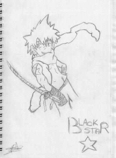 Un de mes dessin de Black Star