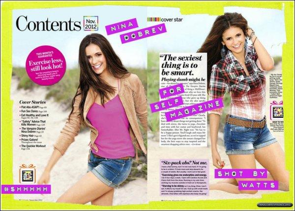 Découvres de nouvelles photos de Nina prises pour Glamour USA.