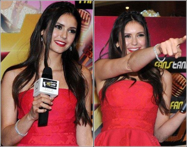Le 28 Décembre, Nina était présente au Super Brand Mall à Shanghai.