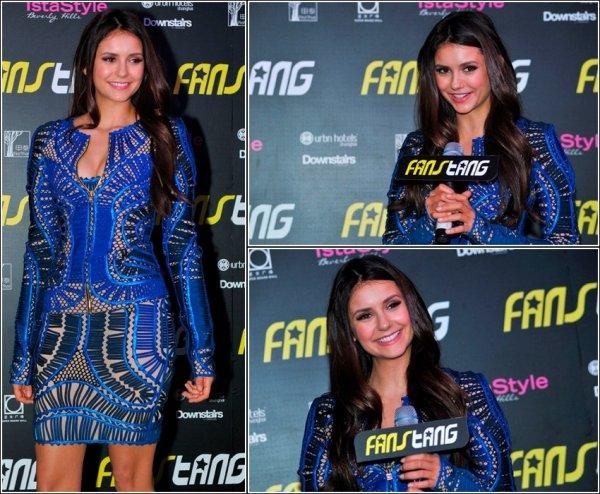 Nina a assisté à une soirée, le 28 décembre, organisée par Fanstang, toujours en Asie.