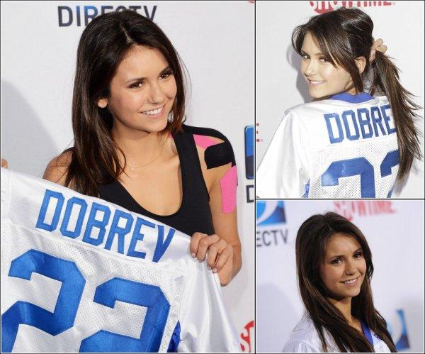 Le 2 Février 2013, Nina et Ian ont participé au DIRECTV'S 7th Annual Celebrity Beach Bowl.