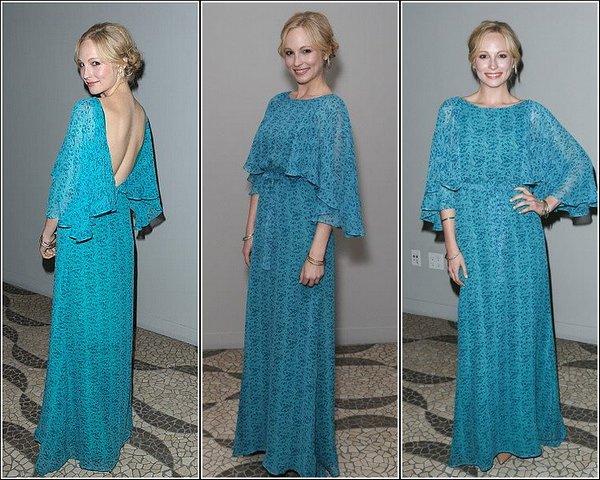 C'est Candice Accola que nous retrouvons le 13 Mars 2013 au Genart dinner party honoring LAFW fashion.