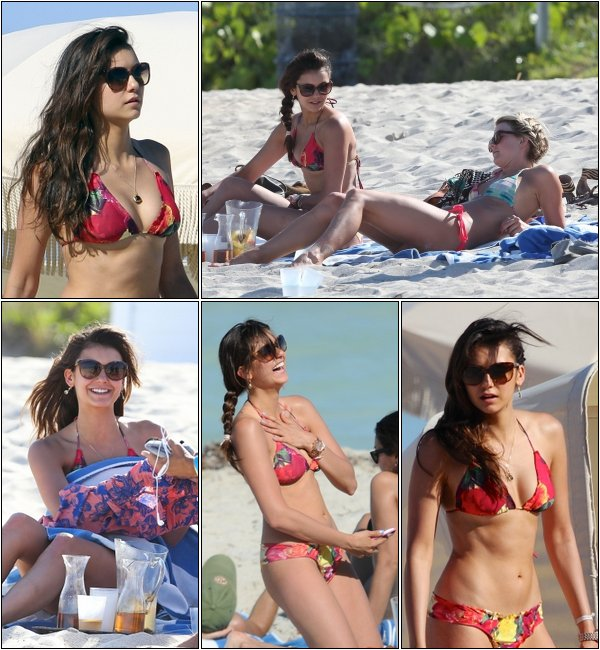Le 28 Avril, Nina, Julianne et des amies se sont encore rendues à Miami beach.