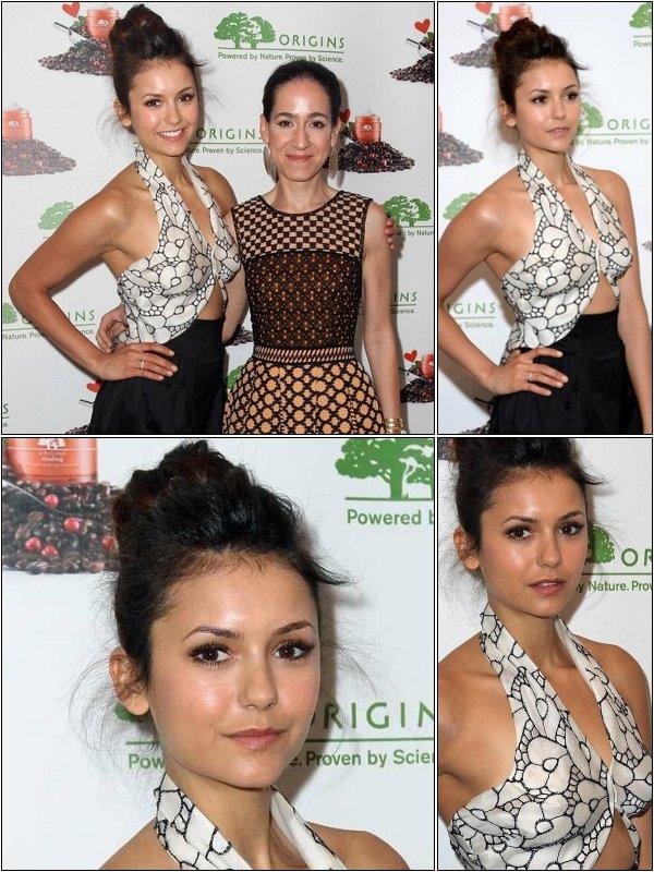 """Le 2 Mai, Nina au lancement la nouvelle gamme """"Origins GinZing Hydratant énergisants"""" de Jane Lauder."""
