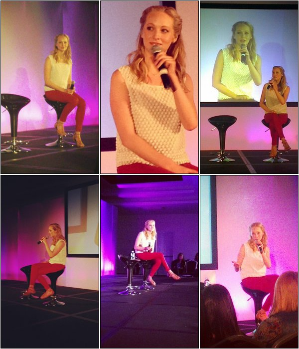 Ce 4 Mai, Candice se trouvait à la convention TVDBloody Night Con à Barcelone.