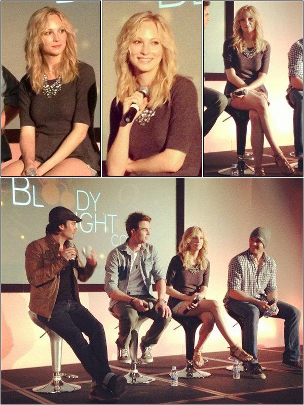 Le 5 Mai, Candice et ses co-stars de TVD était à la deuxième journée Bloody Night Con de Barcelone.