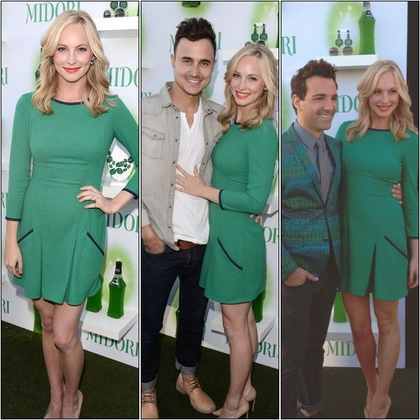 Le 20 Juin 2013, Candice était au Cocktail Happy Hour de Midori avec son chéri et Kat Graham.