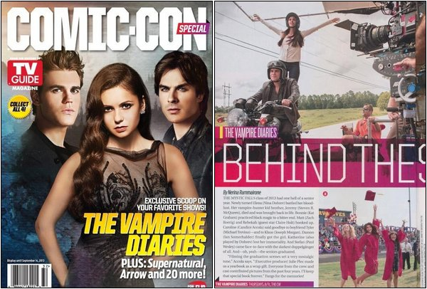 Les acteurs de Vampire Diaries font la couverture du TVGuide Magazine.