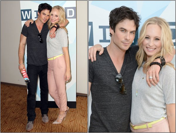 Le 20 Juillet, Candice et Ian était au Wired Cafe du Comic Con.