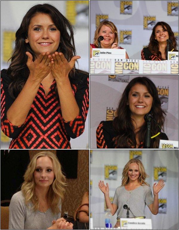 Toujours le 20 Juillet, Nina, Candice et le cast de TVD était à la conférence du Comic Con.