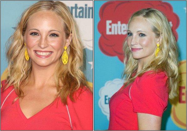 Le 21 Juillet,Candice, le cast et son fiancé étaient au Entertainment Weekly's Annual Comic Con.