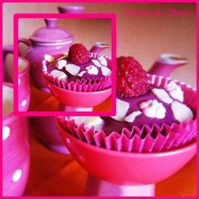 Cupcakes choco/framboise façon recette de Suzee