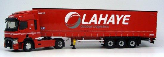 nouveautés de eligor: renault tautliner lahaye global logistis 1/43 réf: 116065.